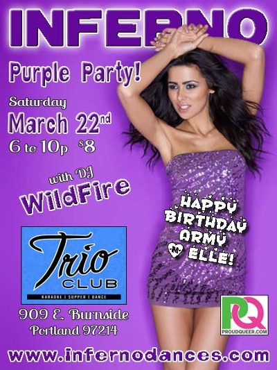 Portland INFERNO Puple Party